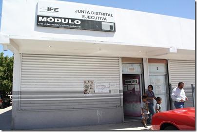 Módulo del Instituto Federal Electora, avenida Chiapas y calle Siete