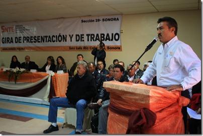 Gira de trabajo de nuevo dirigente estatal de la Sección 28 del SNTE, Fermín Borbón Cota (51)